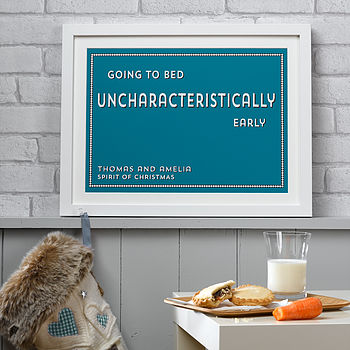 Personalised Christmas Traditions Print - Blue