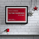 Bespoke Christmas Traditions Framed Print - Red & White