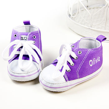 Personalised Purple High Top Trainers