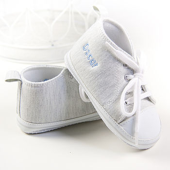 Personalised Grey High Top Trainers