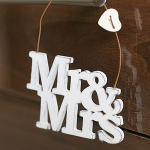 Mr And Mrs Wedding Sign - albums & keepsakes