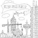 Colour In Cityscape Or Height Chart Poster