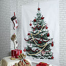 Photographic Snowy Christmas Tree Fabric Wall Hanging