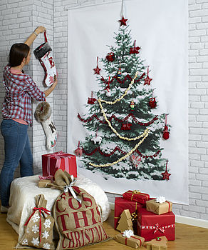 Photographic Space Saving Christmas Tree Wall Hanging