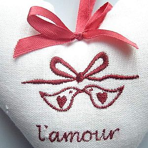 'L'amour' Heart - hanging decorations