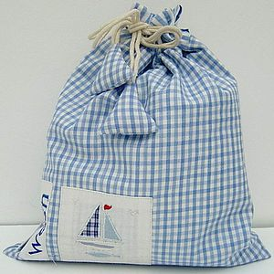 Gingham washbags - wash & toiletry bags