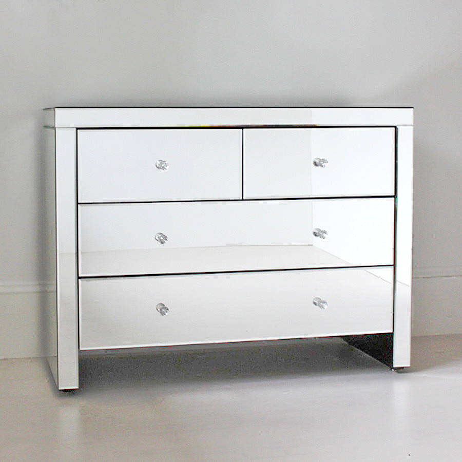 Four Drawer Mirrored Chest