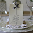 Six Happy Ever After Wedding Favour Bags