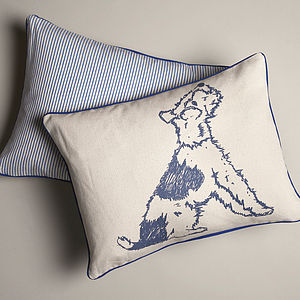 Bertie Ticking Cushion - cushions