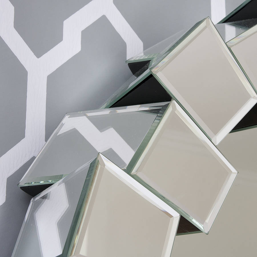 Contemporary Block All Glass Mirror By Decorative Mirrors