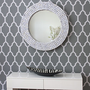 *Sale: Save 30%* White Round Recycled Mirror