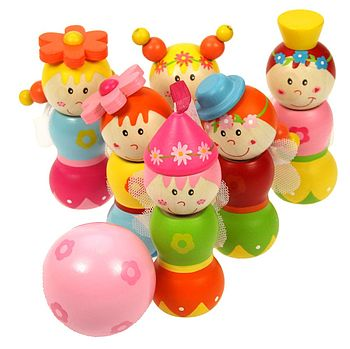 Children's Wooden Fairy Skittles