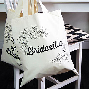 Bridezilla Tote Bag - wedding fashion