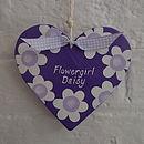 Bridesmaid Or Flowergirl Heart