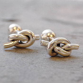 Sterling Silver Nautical Knot Men's Cufflinks