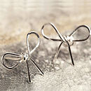 Silver Bow Stud Earrings