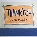 Thankyou So Much Hand Printed Card