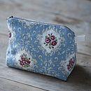Posy Linen Cosmetic Bag