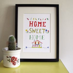 'Home Sweet Home' Screen Print - new lines added