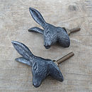 Set Of Two Hare Cupboard Knobs
