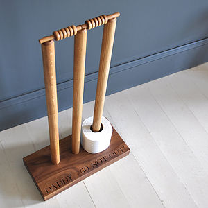 Cricket Wicket Loo Roll Holder - furnishings & fittings