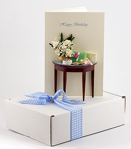 Personalised High Tea 3 D Greetings Card - blank cards