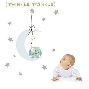Twinkle Twinkle Fabric Wall Stickers - wall stickers