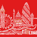 London Skyline Typography Print