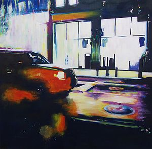 City Lights One Original Painting - brand new sellers