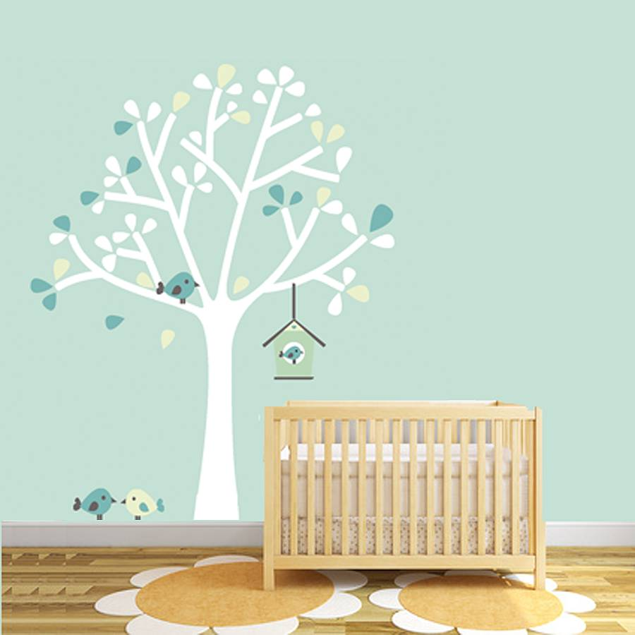 silhouette tree fabric wall sticker by littleprints ... for Wall Sticker Tree Silhouette  585hul