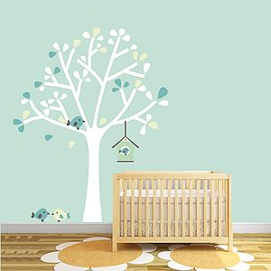 Silhouette Tree Fabric Wall Sticker - baby's room