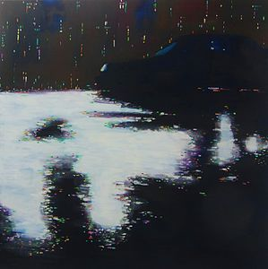 City Lights Three Original Painting - prints & art