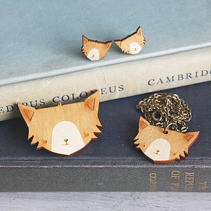 Wooden Cat Jewellery Gift Set - jewellery sets