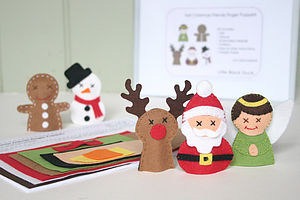 Christmas Friends Finger Puppet Sewing Kit - christmas eve
