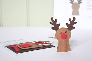 Reindeer Finger Puppet Sewing Kit