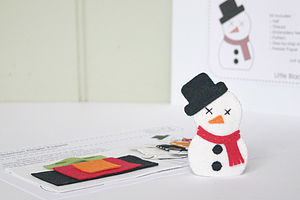 Snowman Finger Puppet Sewing Kit