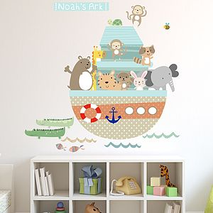 Noahs Ark Fabric Wall Stickers - bedroom