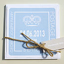 Personalised Boy's Crown Birth Announcement Cards