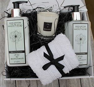 Fig And Bergamot Pamper Gift Box - candles & candlesticks