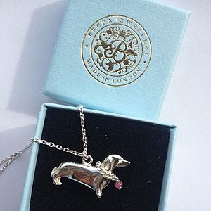 Sausage Dog Pendant - necklaces & pendants