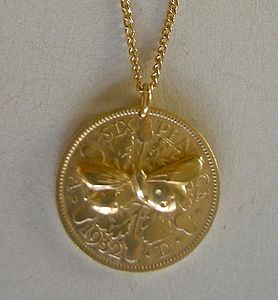 Butterfly Coin Pendant