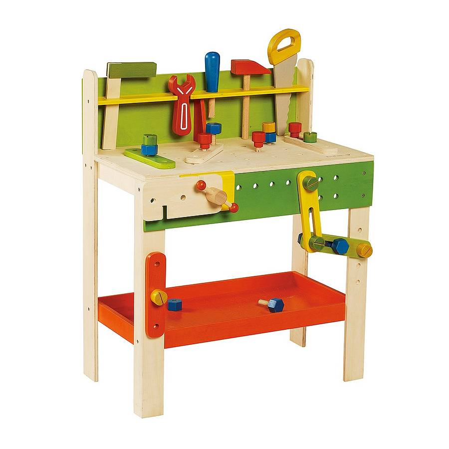 carpenter 39 s toy workbench by knot toys