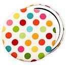 Colourful Spotty Girls Pocket Mirror