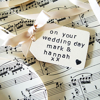 Cream Wedding Tag