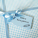 Pastel Blue Baby Gift Tag