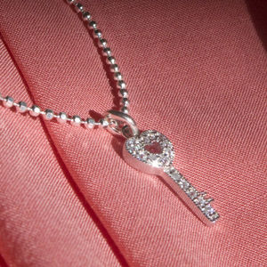 Children's Sterling Silver Key Necklace
