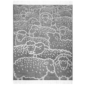 Flock Of Sheep Wool Throw - bedroom