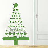Nordic Christmas Tree Wall Sticker - christmas