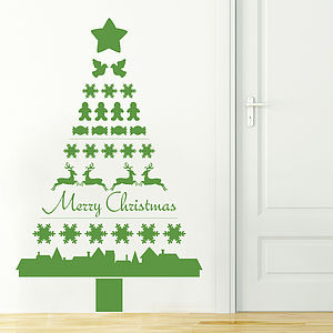 Nordic Christmas Tree Wall Sticker - christmas wall stickers