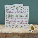 Personalised 'You're The Best' Card